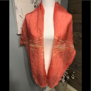 Silk/gauze scarf